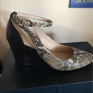 NWT Cole Haan Lea Snake Print Leather Ankle Strap